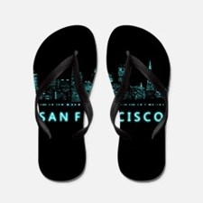 Digital Cityscape: San Francisco, Calif Flip Flops