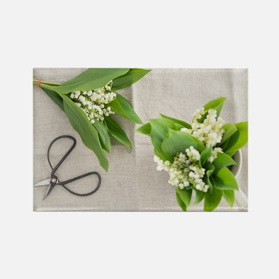 Lilies of the valley Magnets