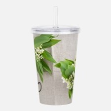 Lilies of the valley Acrylic Double-wall Tumbler