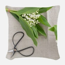 Lilies of the valley Woven Throw Pillow