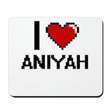 I Love Aniyah Digital Retro Design Mousepad