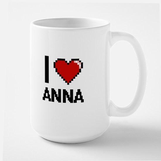 I Love Anna Digital Retro Design Mugs