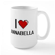 I Love Annabella Digital Retro Design Mugs