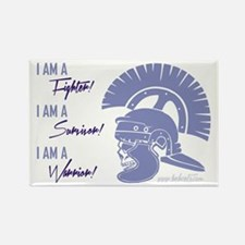 I AM A WARRIOR! Rectangle Magnet