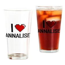 I Love Annalise Digital Retro Desig Drinking Glass