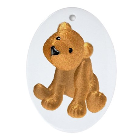Brown Bear Oval Ornament