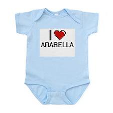 I Love Arabella Digital Retro Design Body Suit
