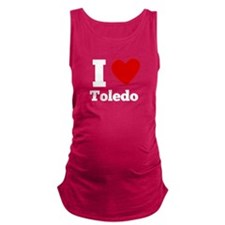 I Heart Toledo Maternity Tank Top