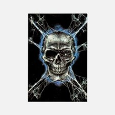 Electric Skull and Crossbones Magnets