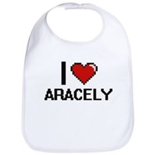 I Love Aracely Digital Retro Design Bib