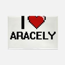 I Love Aracely Digital Retro Design Magnets