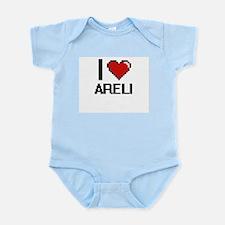 I Love Areli Digital Retro Design Body Suit