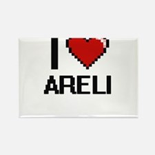 I Love Areli Digital Retro Design Magnets