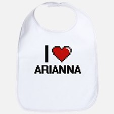 I Love Arianna Digital Retro Design Bib