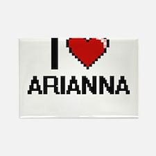 I Love Arianna Digital Retro Design Magnets