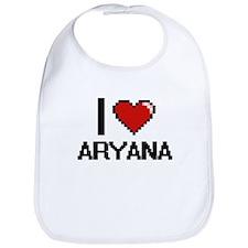 I Love Aryana Digital Retro Design Bib