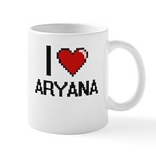 I Love Aryana Digital Retro Design Mugs
