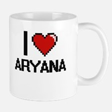 I Love Aryana Digital Retro Design Mugs
