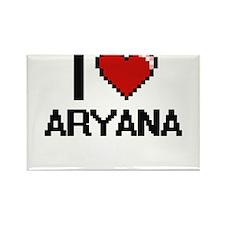 I Love Aryana Digital Retro Design Magnets