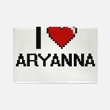 I Love Aryanna Digital Retro Design Magnets
