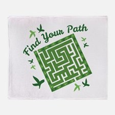 Find Your Path Throw Blanket