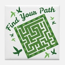 Find Your Path Tile Coaster