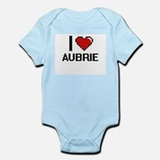 I Love Aubrie Digital Retro Design Body Suit