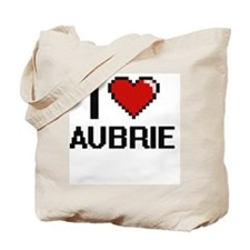 I Love Aubrie Digital Retro Design Tote Bag