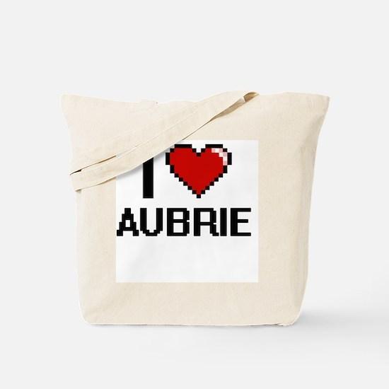 I Love Aubrie Digital Retro Design Tote Bag
