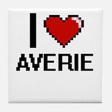 I Love Averie Digital Retro Design Tile Coaster