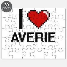 I Love Averie Digital Retro Design Puzzle
