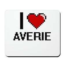 I Love Averie Digital Retro Design Mousepad
