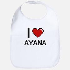 I Love Ayana Digital Retro Design Bib