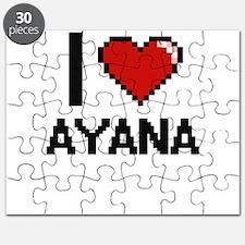 I Love Ayana Digital Retro Design Puzzle