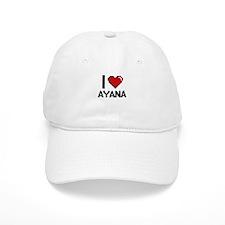 I Love Ayana Digital Retro Design Cap