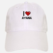 I Love Ayana Digital Retro Design Cap