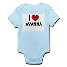 I Love Ayanna Digital Retro Design Body Suit