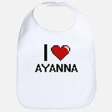 I Love Ayanna Digital Retro Design Bib