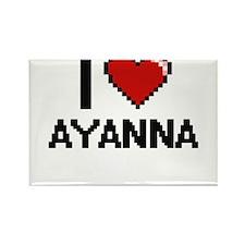 I Love Ayanna Digital Retro Design Magnets