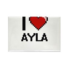I Love Ayla Digital Retro Design Magnets