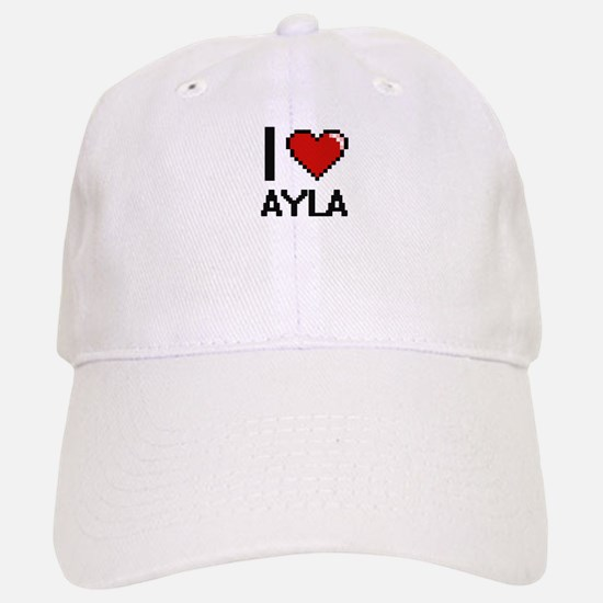 I Love Ayla Digital Retro Design Cap