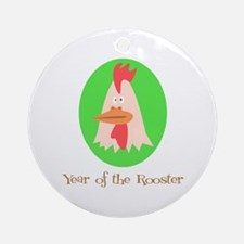 Cartoon Year of the Rooster Ornament (Round)
