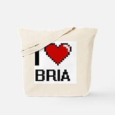I Love Bria Digital Retro Design Tote Bag