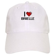 I Love Brielle Digital Retro Design Baseball Cap