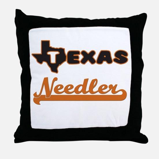 Texas Needler Throw Pillow
