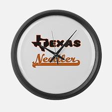 Texas Needler Large Wall Clock