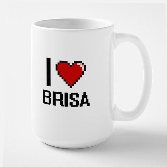 I Love Brisa Digital Retro Design Mugs