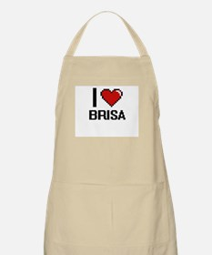 I Love Brisa Digital Retro Design Apron