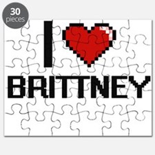 I Love Brittney Digital Retro Design Puzzle