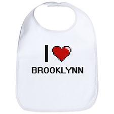 I Love Brooklynn Digital Retro Design Bib